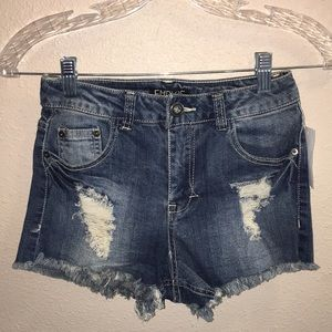 Empyre Sofie Med Wash High Waisted Jean Shorts Sz3